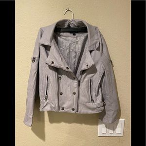 Bebe cropped faux leather moto jacket size Small